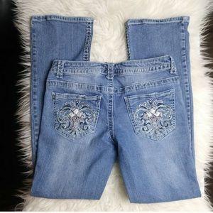 Paisley Sky Rhinestone Embroidered Denim Jeans 6